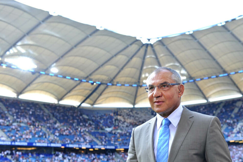 Felix Magath in seiner langjährigen Heimat: dem Hamburger Volksparkstadion.
