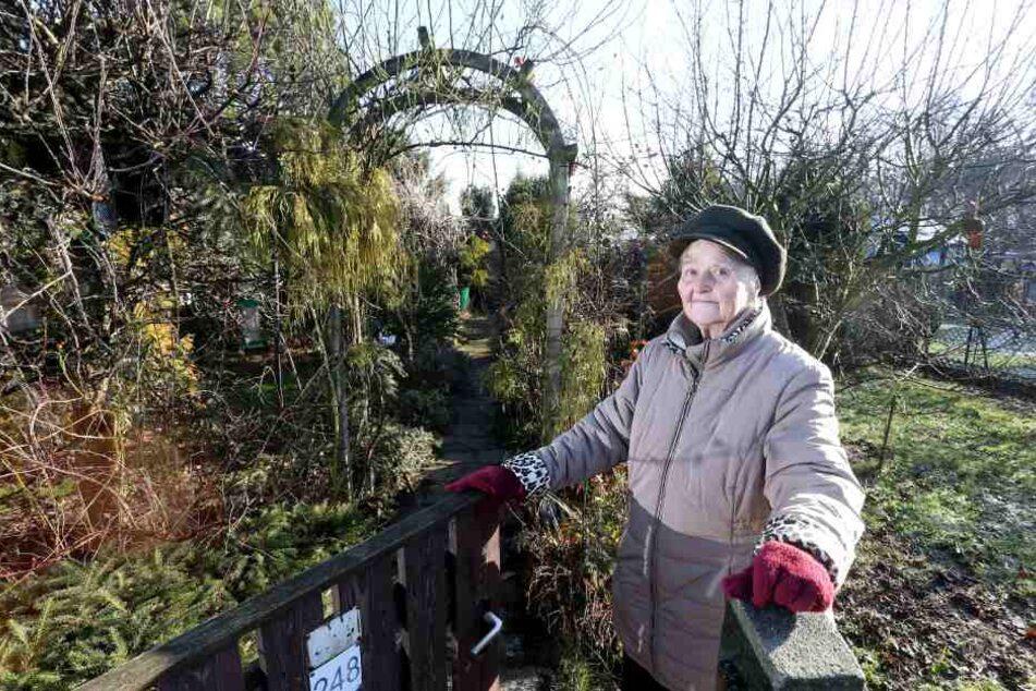 Inge Roßburg (81) wurde in der Spartenanlage Frischborn der Garten gekündigt.