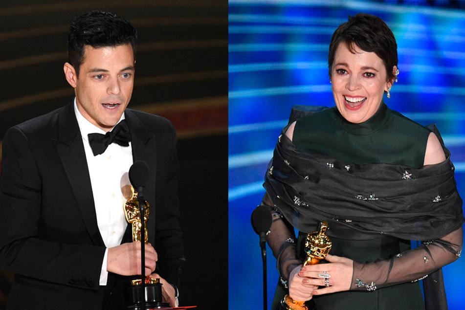 Rami Malek und Olivia Colman wurden als beste Hauptdarsteller ausgezeichnet.