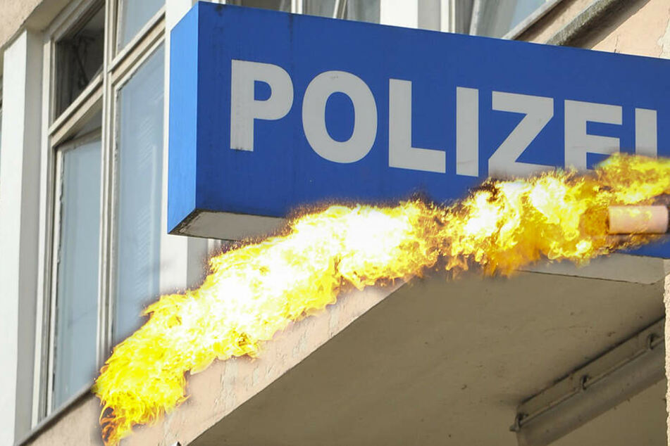 Angreifer werfen Molotowcocktails auf Polizeistation