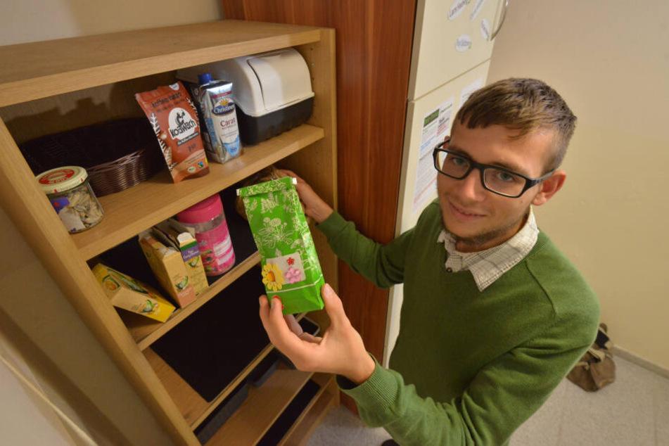 Gegen Lebensmittelverschwendung: Studenten-Wohnheim Zwickau eröffnet Fair-Teiler