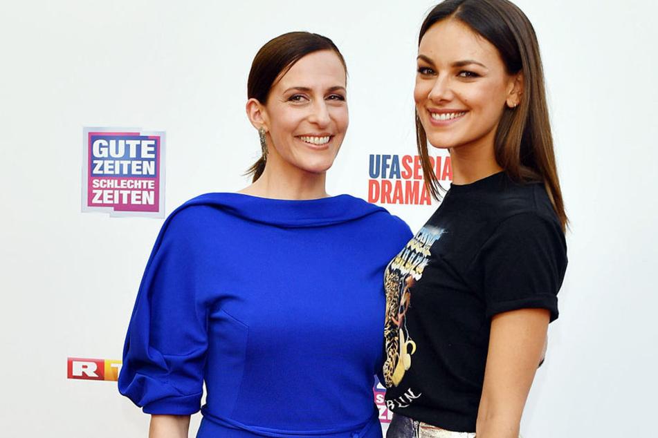 Mit Serienmutter Ulrike Frank (Kathrin Flemming) drehte Janina zuletzt in Venedig.