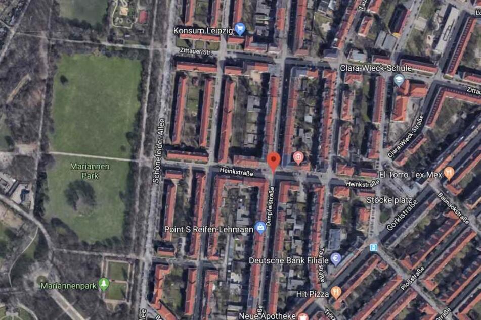 Unweit des Mariannenparks im Leipziger Osten ereignete sich der Diebstahl.