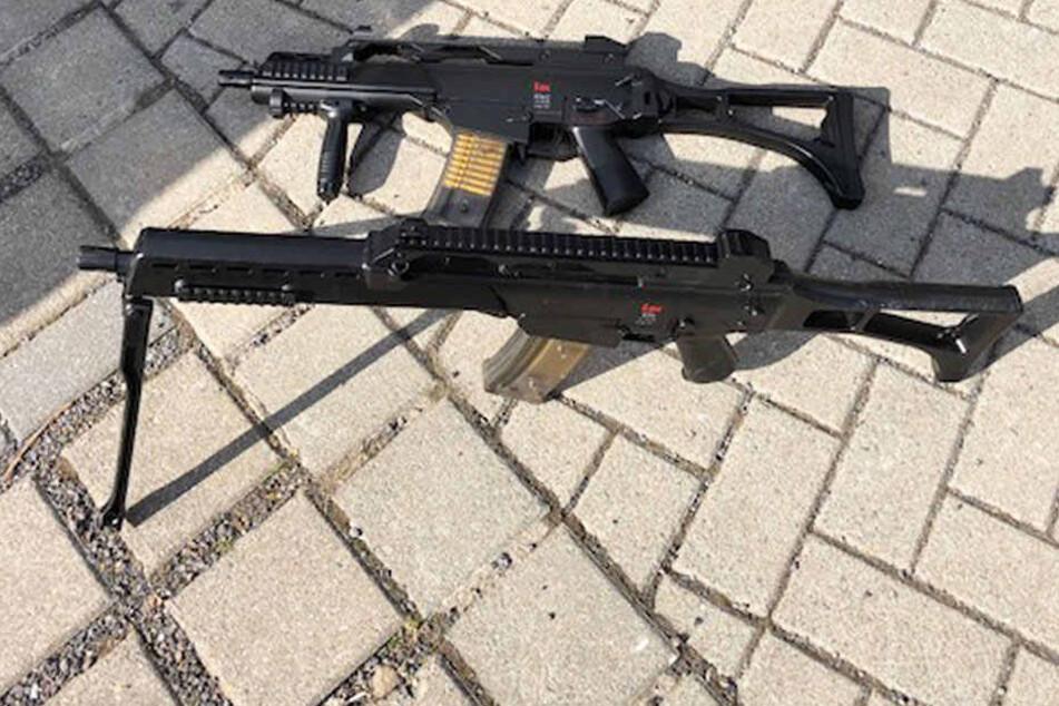 Mit zwei G36-Gewehren machten Jugendliche Dresden unsicher.