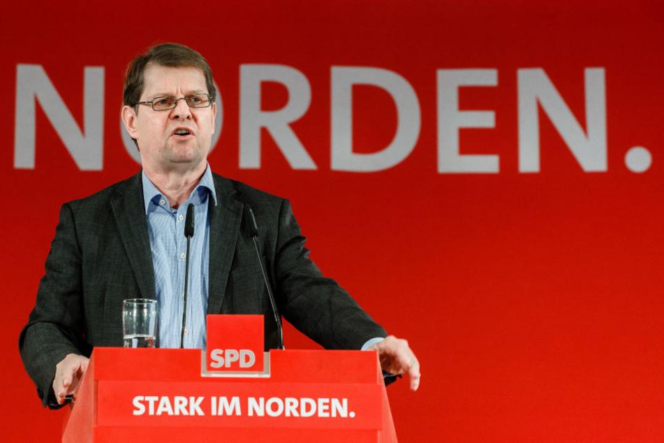 Landesvorsitzender der schleswig-holsteinischen SPD, Ralf Stegner.