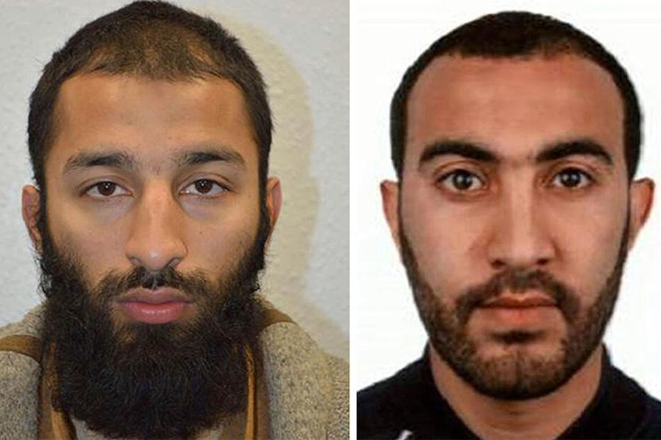 Zwei der beiden Terroristen Khuram Butt und Rachid Redouane.