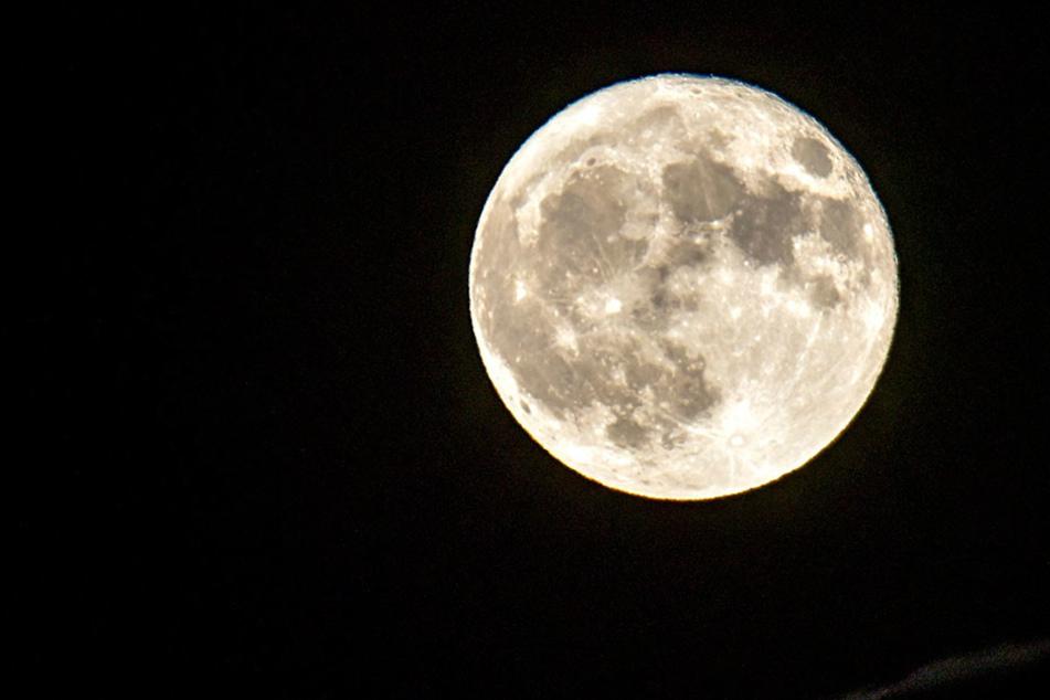 """Wir hätten Euch gern den """"Schwarzen Mond"""" gezeigt. Aber dann wäre das Bild komplett schwarz :-) Deshalb hier unser geliebter Vollmond."""