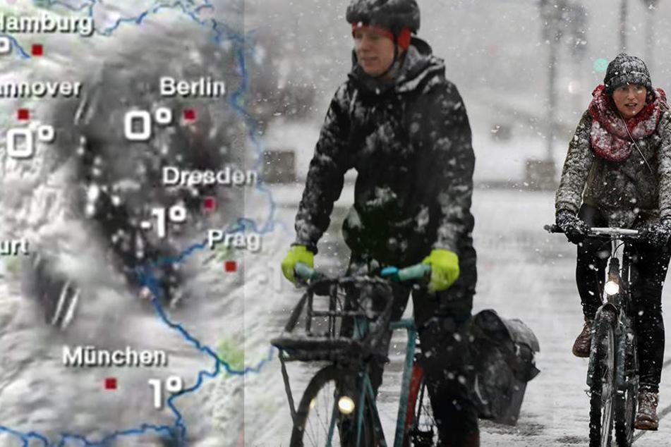 In Berlin könnte es schon in der Nacht zu Mittwoch kräftig schneien.