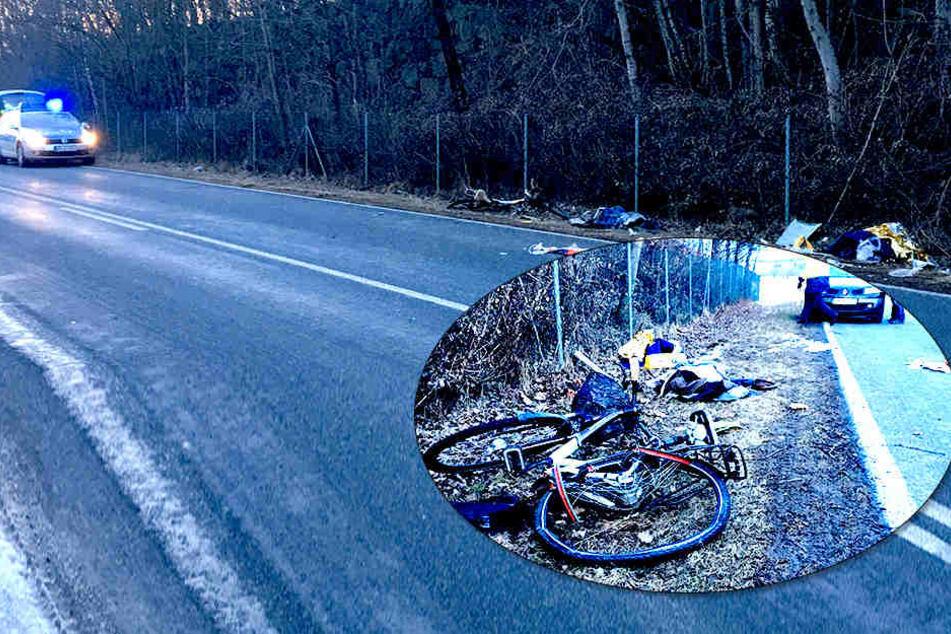 Zeugen gesucht! Radler stirbt nach heftigem Crash mit Lkw