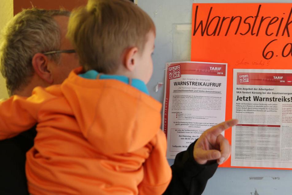 Warnstreik legt Kindergärten in Sachsen lahm!