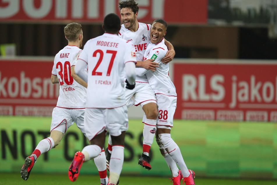 Jonas Hector freute sich über sein Tor beim Spiel gegen den SC Paderborn