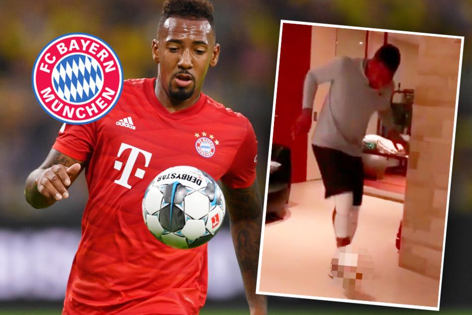 """FC Bayern: Jérôme Boateng greift zu ungewöhnlichem """"Spielzeug"""" und startet Challenge"""