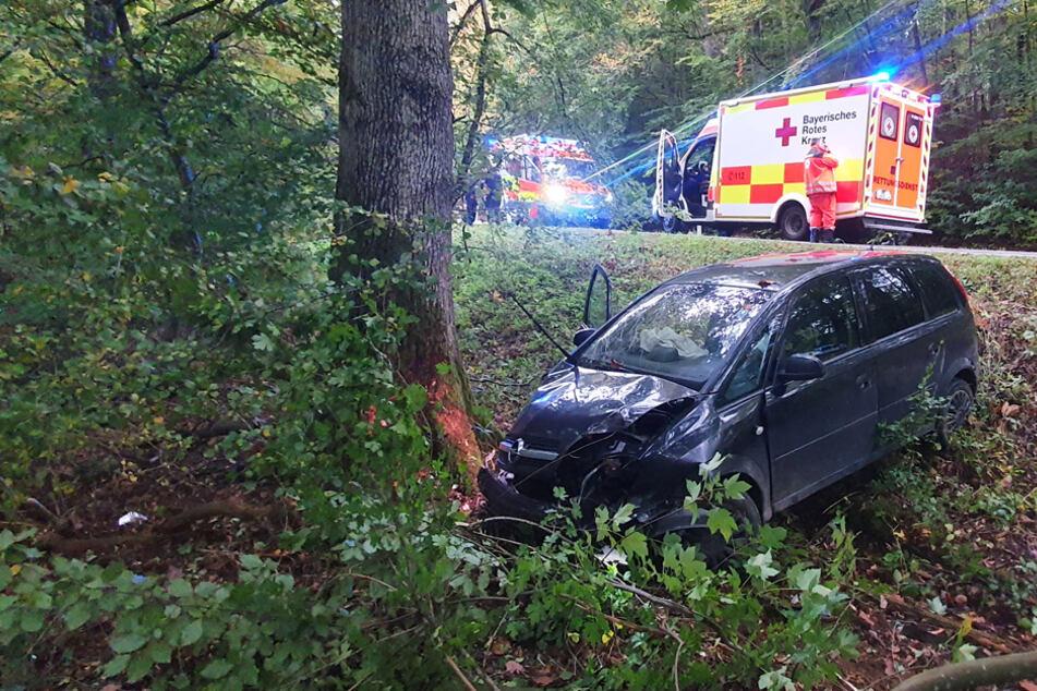 Betrunken am Steuer? Auto kracht gegen Baum, beide Insassen verletzt