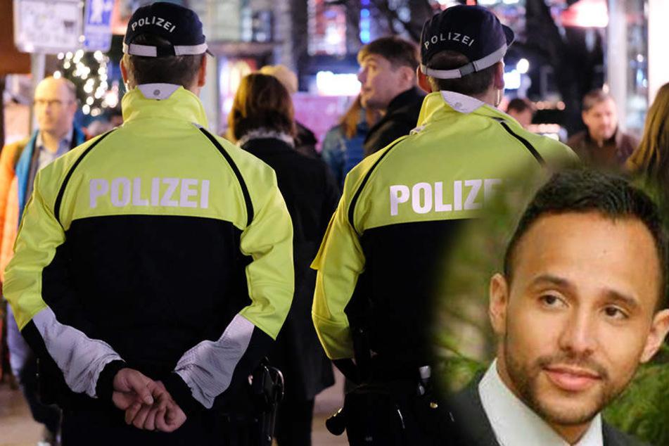 Leipzigs SPD-Chef Hassan Soilihi Mze (rechts unten) fordert mehr Personal für Leipzigs Polizei und lehnt die CDU-Forderungen an OB Jung ab.