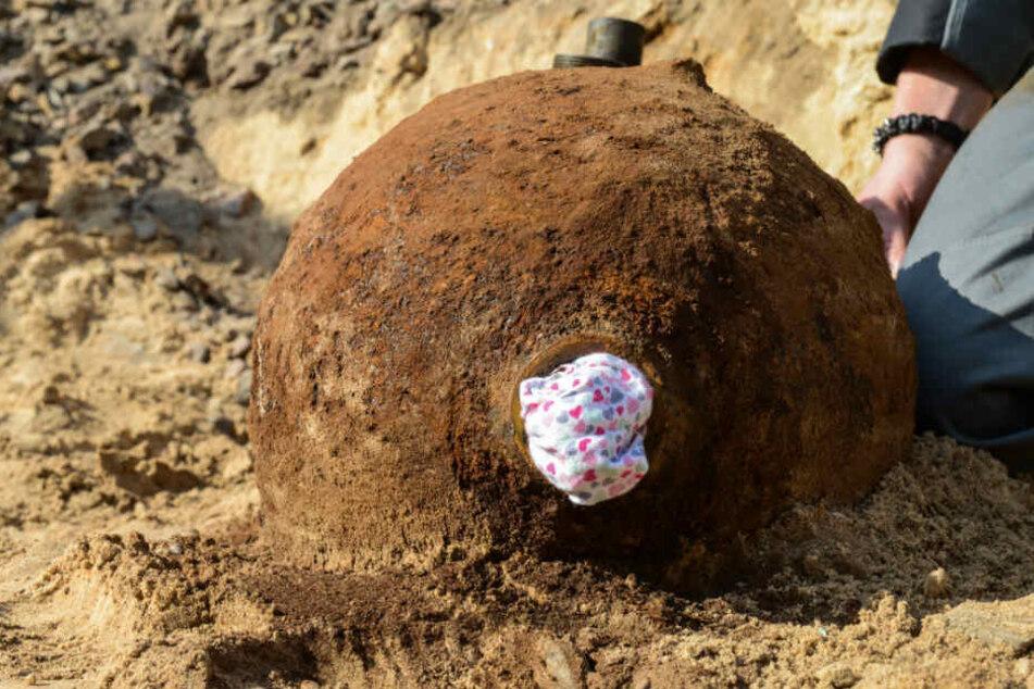 Eine Weltkriegsbombe in Oranienburg wird gesprengt. (Symbolbild)