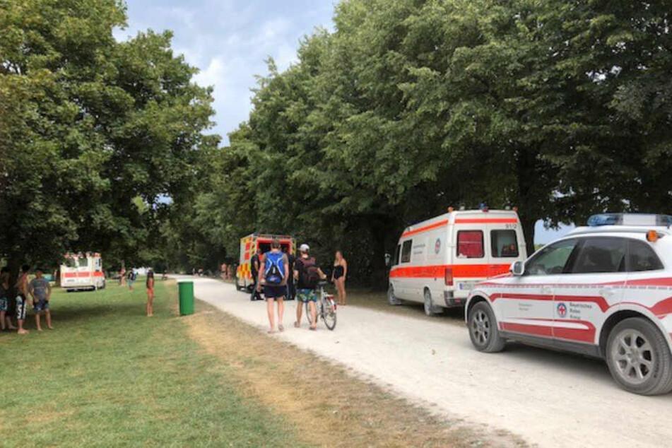Die Wasserwacht München führte die Erstversorgung des Kindes durch.