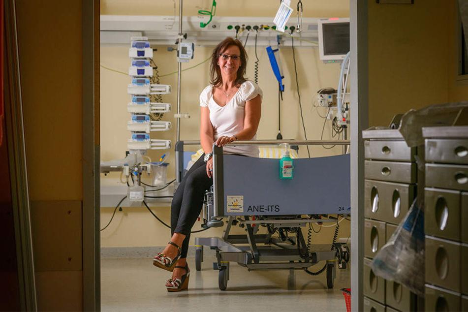 Bekam eine Sepsis nach schwerer Lungeninfektion: Kundenbetreuerin Ute Hinz (51) aus Dresden überlebte die lebensgefährliche Krankheit.
