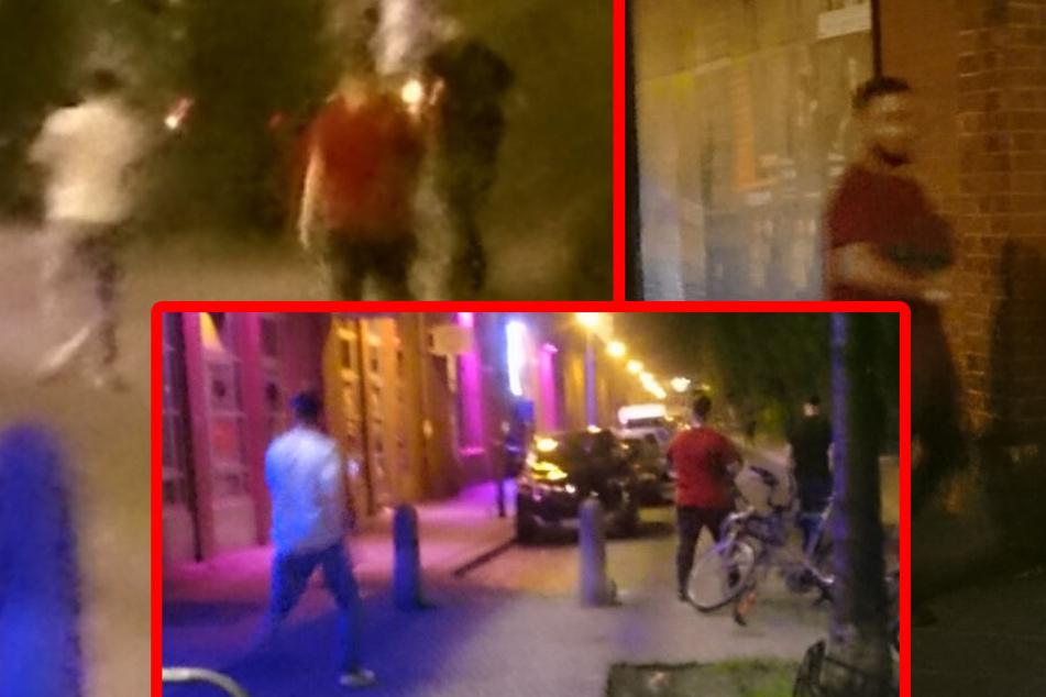 Eine Zeugin des Geschehens konnte von den Verdächtigen drei Bilder mit ihrem Handy aufnehmen.