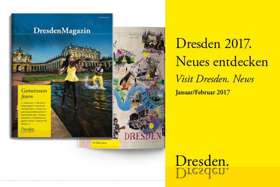"""Das Layout des Flyers ist in Aufmachung und Schrift genau wie das von """"Dresden Marketing"""" gestaltet."""