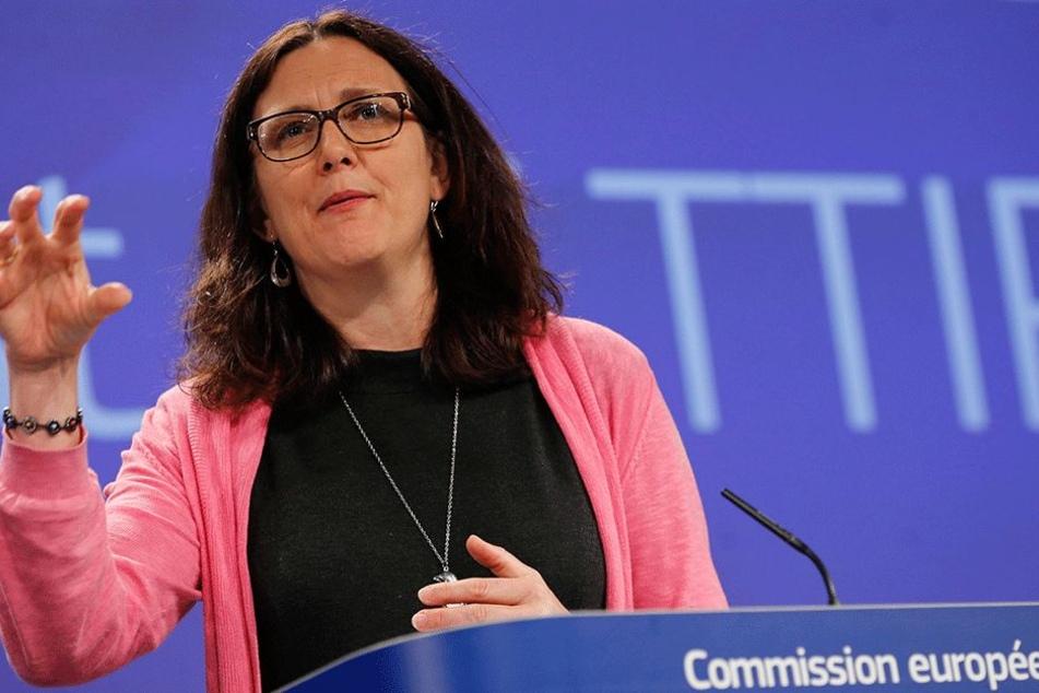 EU-Handelskommissarin Cecilia Malmström sieht kaum noch Chancen für TTIP.