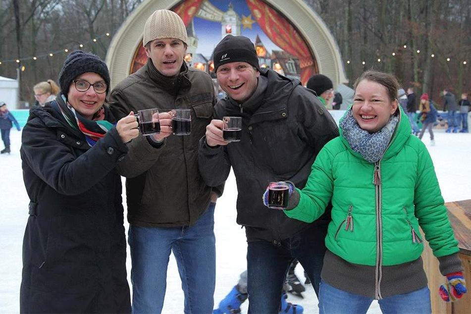 Auf dem Konzertplatz Weißer Hirsch wird noch den gesamten Winter gebechert.