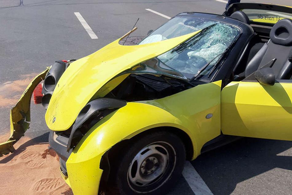Nach Frontal-Crash im Krankenhaus! Schwerer Verkehrsunfall in Freiberg
