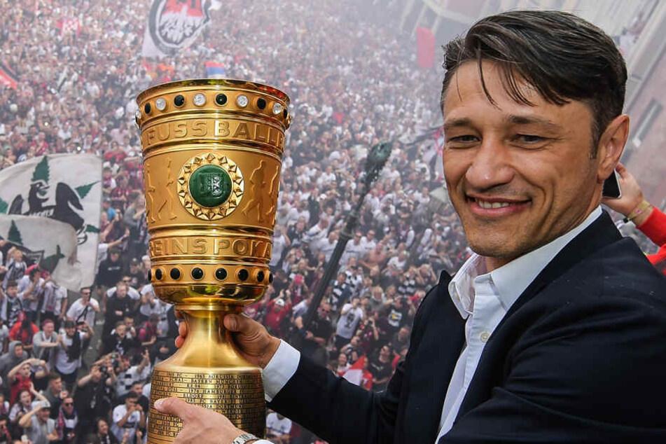 Niko Kovac gewann vor seinem Abgang den DFB Pokal mit der Eintracht - gegen seinen neuen Arbeitgeber FC Bayern München.