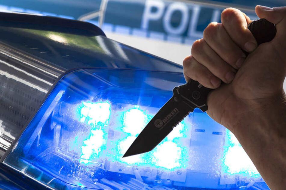 Ein Unbekannter hat zwei Slowaken mit einem Messer bedroht.