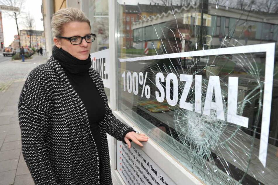Das Büro von Susanne Schaper wurde immer wieder beschmiert.