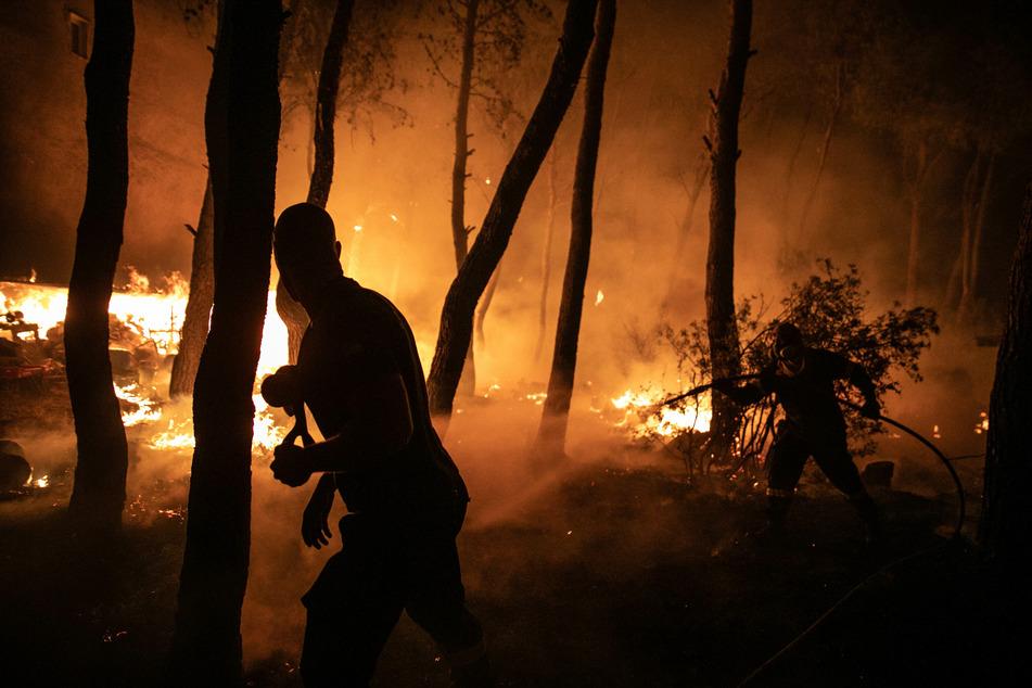 Verheerende Waldbrände vernichten weiterhin Tausende von Hektar Waldfläche in ganz Griechenland.