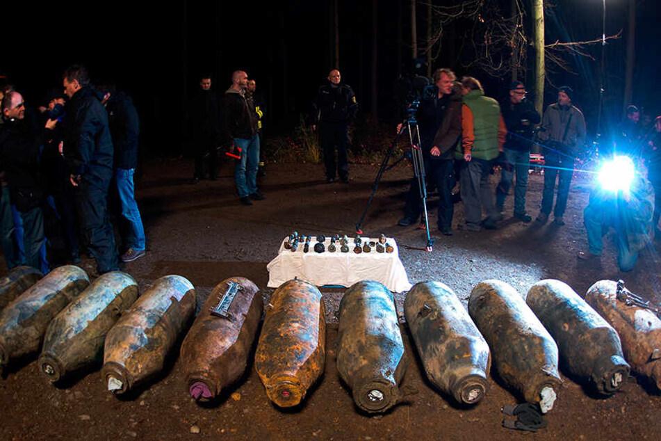 2013 entschärfte das Kampfmittelbeseitigungs-Team in der Dippser Heide elf amerikanische Fliegebomben aus dem Zweiten Weltkrieg.