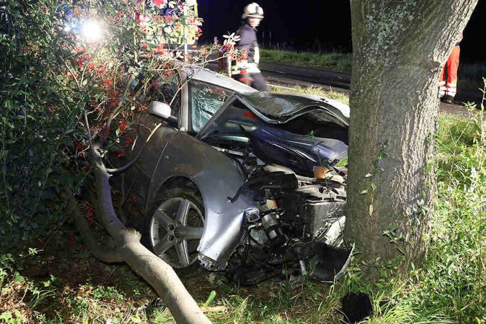 Der Audi-Fahrer landete mit seinem Fahrzeug im Straßengraben.