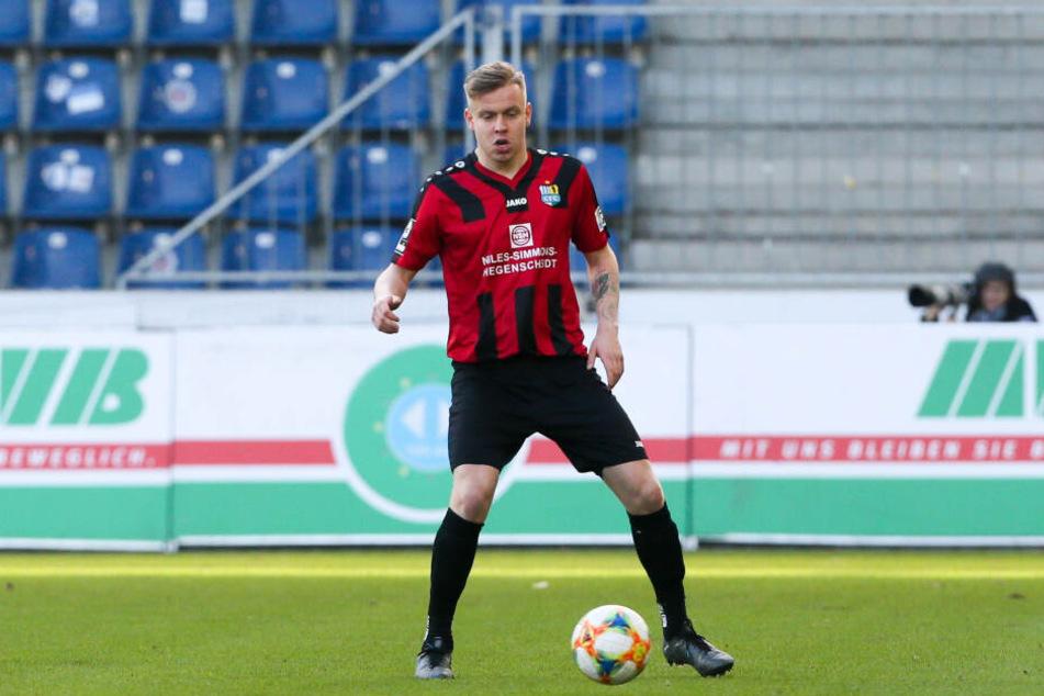 In der ersten Halbzeit stand erstmals Last-Minute-Neuzugang Lennard Maloney für den Chemnitzer FC auf dem Platz.