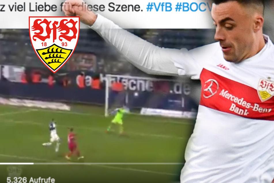 """Unglaubliche Szene bei Bochum gegen Stuttgart: VfB-Kicker Förster mit """"Weltpremiere""""?"""