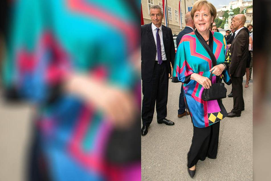 Bei den Salzburger Festspielen zeigte Angela Merkel Farbe.