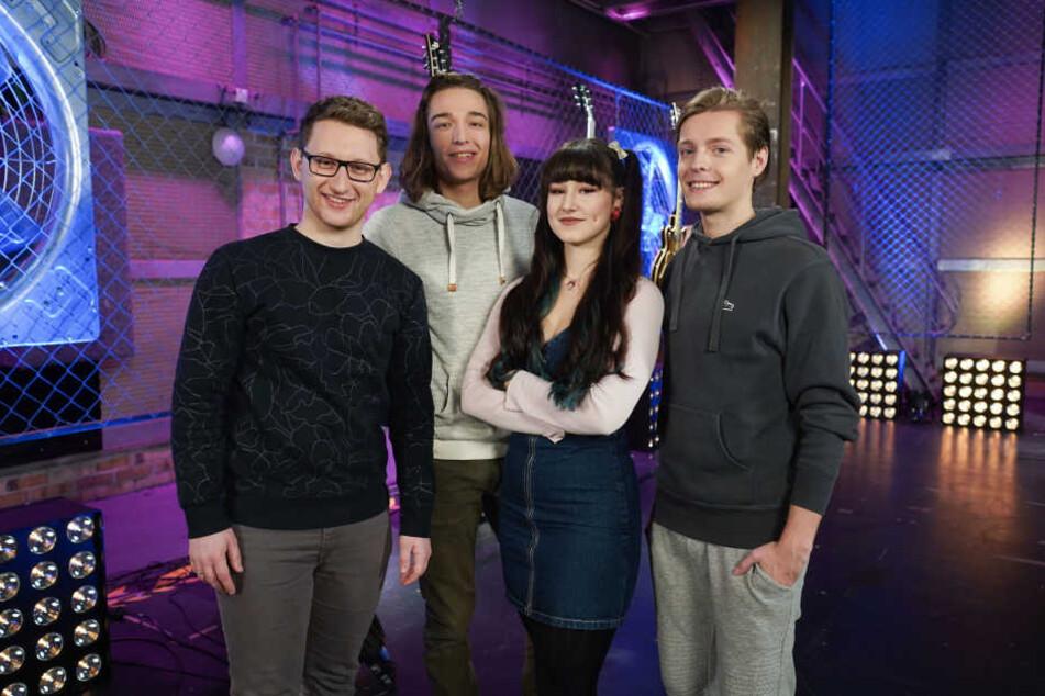 Samuel Rösch (24, v.l.) und seine Mitfinalisten Eros Atomus Isler (18), Jessica Schaffler (17) und Benjamin Dolic (21).
