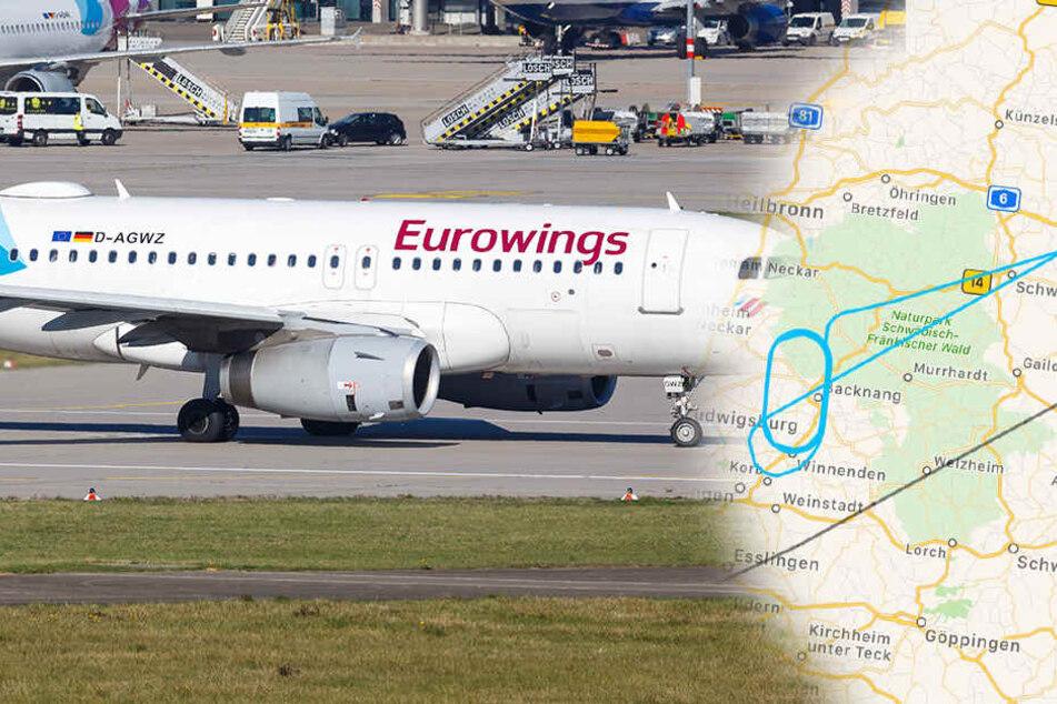 Eurowings von Dresden nach Stuttgart: Was ist mit diesem Flieger los?