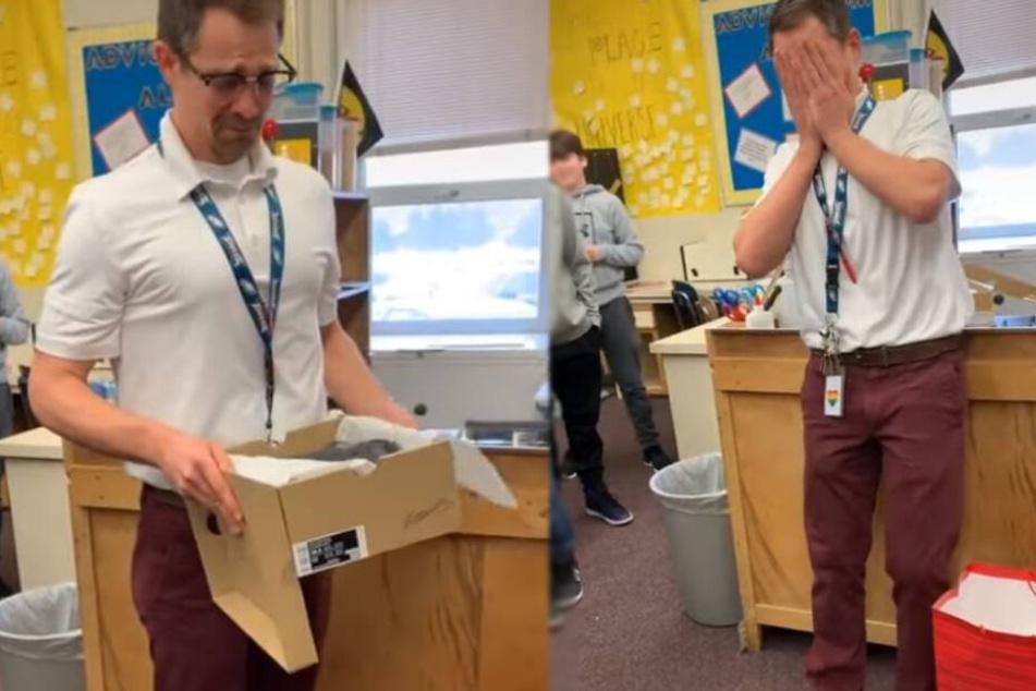 Der Lehrer konnte nicht fassen, was seine Schüler für ihn getan hatten.