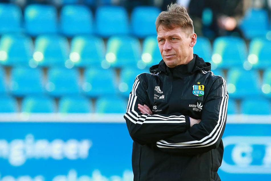 CFC-Coach Sven Köhler war nicht glücklich mit dem, was er sah - vor allem in der zweiten Halbzeit.