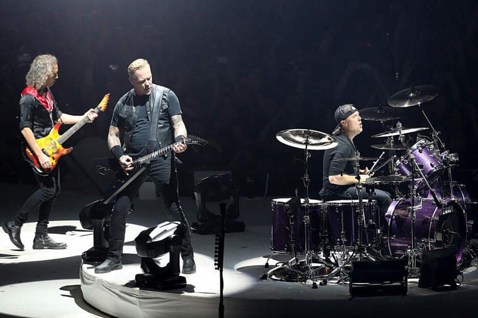 Metallica im Jahr 2017 bei ihrem Konzert in der Kölner Lanxess-Arena.