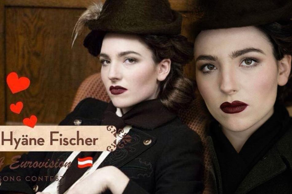 Auf Instagram präsentiert sich Hyäne Fischer im 30er-Jahre-Stil.