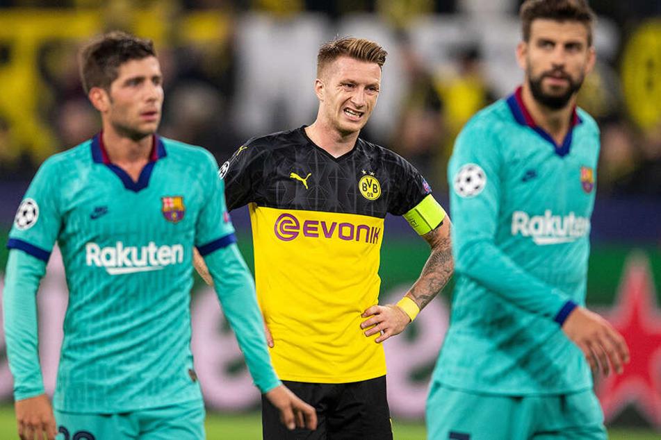 Nationalspieler Marco Reus hatte gleich mehrfach den Dortmunder Sieg auf dem Schlappen.