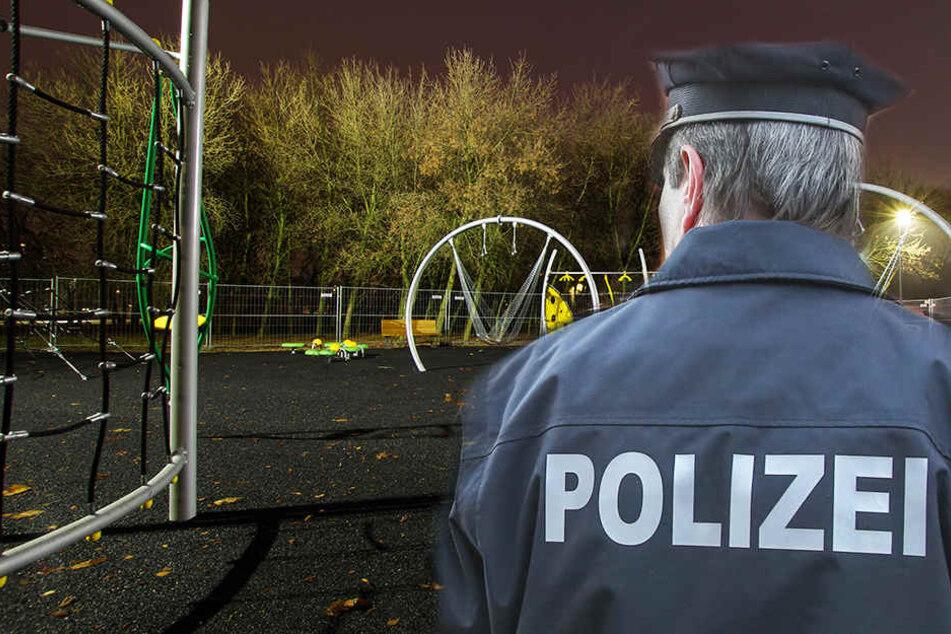 Nach einem Aufenthalt auf dem Spielplatz, jagten die Männer den 23-Jährigen und vergriffen sich dann an ihm. (Fotomontag/Symbolbild)