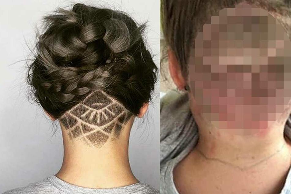 Junge Frau nach Friseurbesuch völlig entstellt