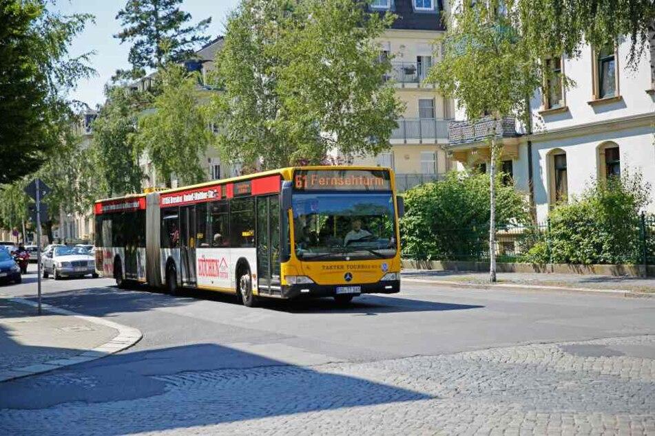 Die Busfahrerin war mit der Linie 61 unterwegs.