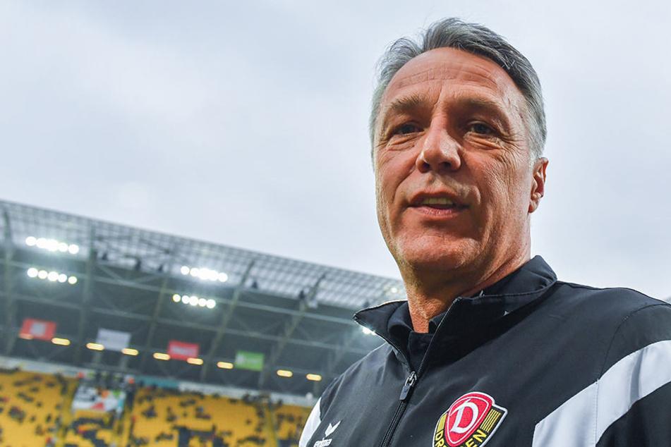 Trainer Uwe Neuhaus kann stolz auf die letzten beiden Jahren zurückblicken. Unter ihm ging es mit Dynamo stetig bergauf, auch wenn er immer wieder Leistungsträger ziehen lassen musste.