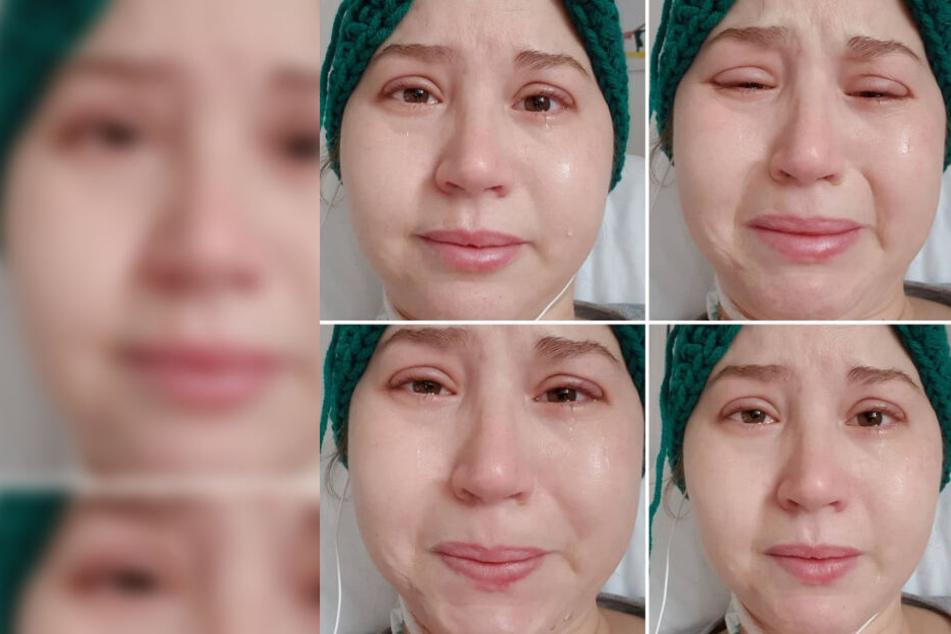 Julia Gasser leidet bei der Chemotherapie.