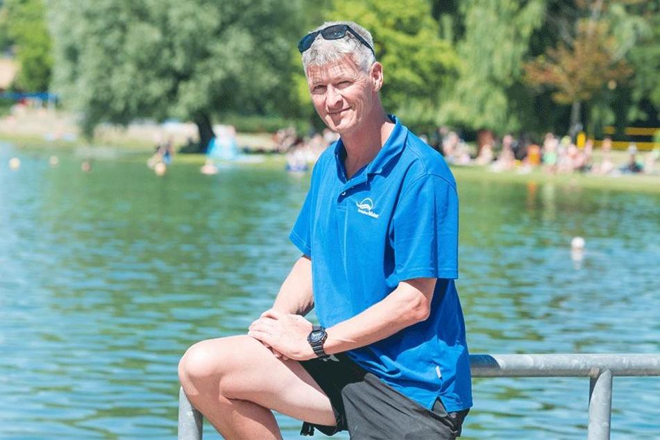 Kai Richter ist stellvertretender Badleiter im Naturbad Mockritz.