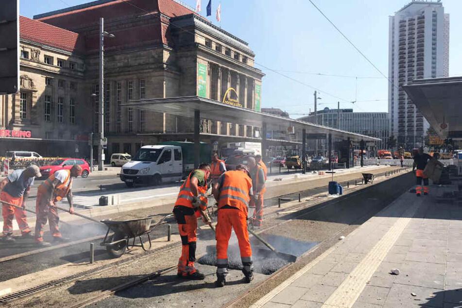 Am Leipziger Hauptbahnhof wird fleißig gebaut. Am Montag, den 16. September, startet die zweite Phase.