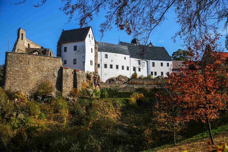 Schloss Lauenstein im Osterzgebirge.